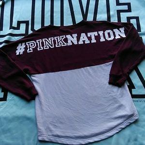 VS PINK Nation varsity crew sweatshirt